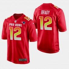 New England Patriots #12 Tom Brady 2019 Pro Bowl NFC Game Jersey - Red