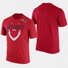 New England Patriots Legend Icon Dri- FIT Red T- Shirt