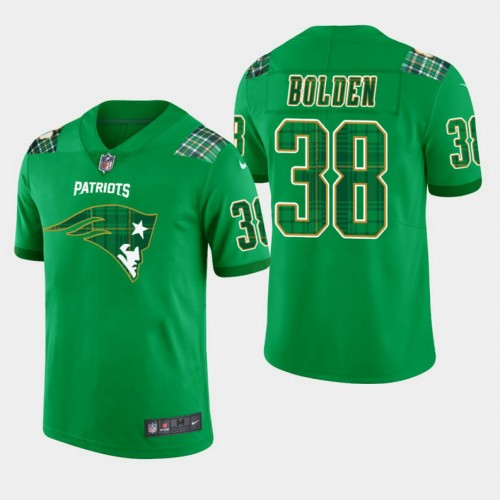 New England Patriots St. Patrick's Day Vapor Untouchable Limited Jersey - Kelly Green