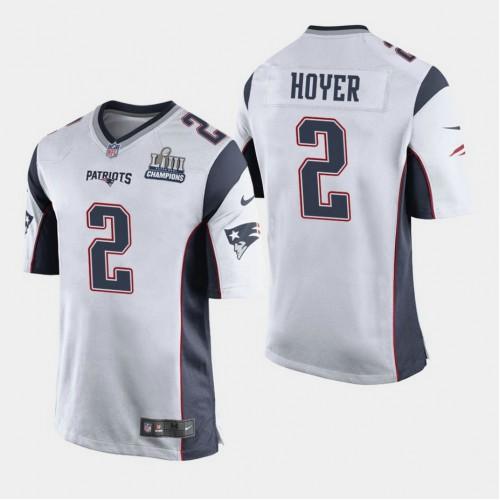 New England Patriots #2 Brian Hoyer Super Bowl LIII Champions Game ...