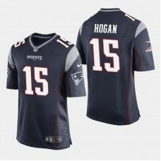 New England Patriots #15 Chris Hogan Game Home Jersey - Navy