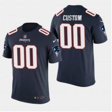 New England Patriots #00 Custom Color Rush T- Shirt - Navy
