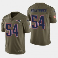 New England Patriots #54 Dont'a Hightower Salute to Service Limited Jersey - Olive