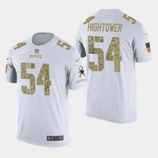 New England Patriots #54 Dont'a Hightower Salute to Service T- Shirt - White