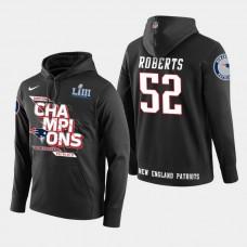 New England Patriots #52 Elandon Roberts Super Bowl LIII Champions Pullover Hoodie - Black