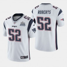 New England Patriots #52 Elandon Roberts Super Bowl LIII Champions Vapor Untouchable Limited Away Jersey - White