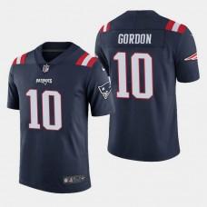 New England Patriots #10 Josh Gordon Color Rush Limited Home Jersey - Navy