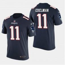 New England Patriots #11 Julian Edelman Color Rush T- Shirt - Navy