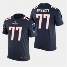 New England Patriots #77 Michael Bennett Color Rush T- Shirt - Navy