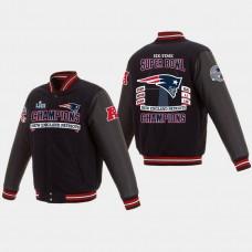 New England Patriots Reversible Full- Snap 6- Time Super Bowl Champions Jacket - Navy