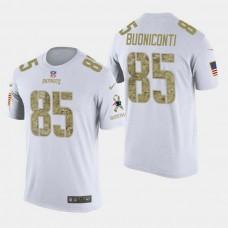 New England Patriots #85 Nick Buoniconti Salute to Service T- Shirt - White
