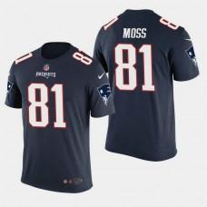 New England Patriots #81 Randy Moss Color Rush T- Shirt - Navy