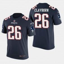 New England Patriots #26 Raymond Clayborn Color Rush T- Shirt - Navy