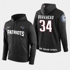 New England Patriots #34 Rex Burkhead Player Pullover Hoodie - Black