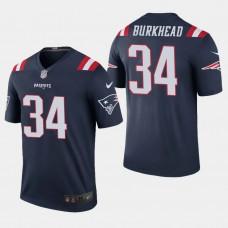 New England Patriots #34 Rex Burkhead Color Rush Legend Home Jersey - Navy