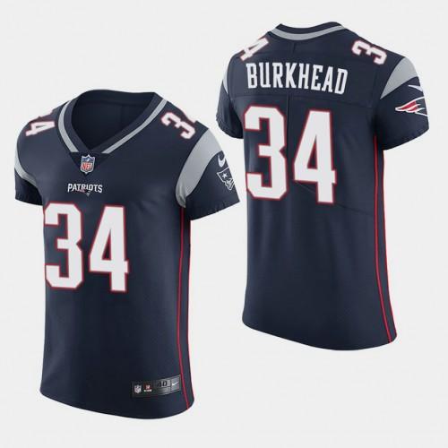 New England Patriots #34 Rex Burkhead Elite Home Jersey - Navy