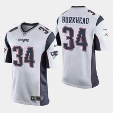New England Patriots #34 Rex Burkhead Game Away Jersey - White