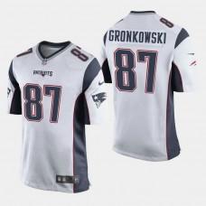 New England Patriots #87 Rob Gronkowski Game Away Jersey - White