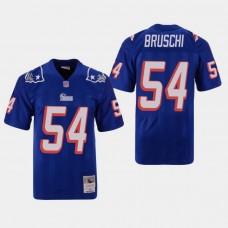New England Patriots #54 Tedy Bruschi Throwback Replica Jersey - Blue
