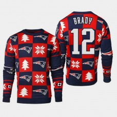 New England Patriots #12 Tom Brady 2018 Christmas Ugly Sweater - Navy
