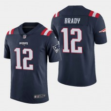 New England Patriots #12 Tom Brady Color Rush Limited Home Jersey - Navy