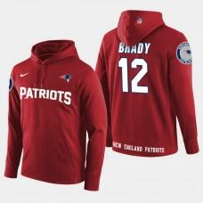 New England Patriots #12 Tom Brady Player Pullover Hoodie - Red