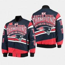 G- III Extreme New England Patriots Super Bowl Champions Commemorative Cotton Twill Jacket - Navy