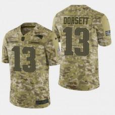 New England Patriots #13 Phillip Dorsett 2018 Salute to Service Limited Jersey - Camo