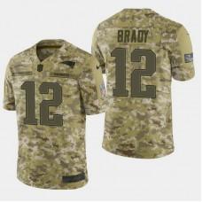 New England Patriots #12 Tom Brady 2018 Salute to Service Limited Jersey - Camo