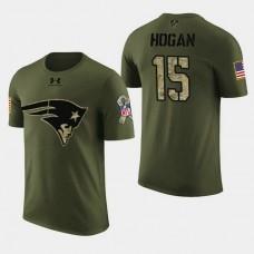 New England Patriots #15 Chris Hogan 2018 Salute to Service T- Shirt - Military Digital Camo