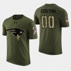 New England Patriots #00 Custom 2018 Salute to Service T- Shirt - Military Digital Camo