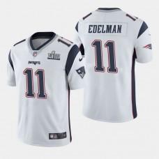 New England Patriots #11 Julian Edelman Super Bowl LIII Vapor Untouchable Limited Away Jersey - White