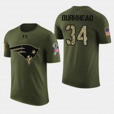 New England Patriots #34 Rex Burkhead 2018 Salute to Service T- Shirt - Military Digital Camo