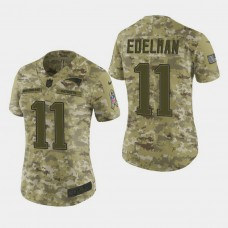 Women's New England Patriots #11 Julian Edelman 2018 Salute To Service Elite Jersey - Camo