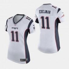 Women's New England Patriots #11 Julian Edelman Game Away Jersey - White