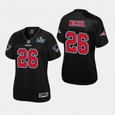 Women New England Patriots #26 Sony Michel Super Bowl LIII Champions Fashion Jersey - Black