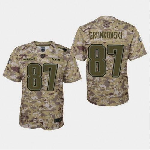 Youth New England Patriots #87 Rob Gronkowski 2018 Salute To ...