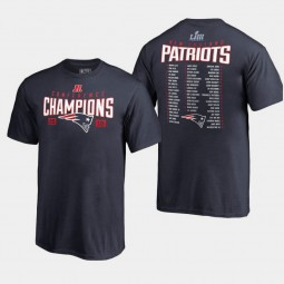Youth New England Patriots Free Safety 2018 AFC Champions T- Shirt - Gray