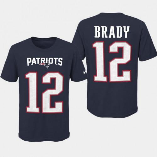 online store 9e480 8178a Youth New England Patriots #12 Tom Brady Player Pride T ...